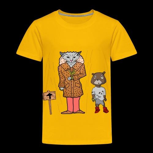 Tomkat Larry Only Pimps Tan Leather Ostrich Parka - Toddler Premium T-Shirt