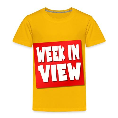 WEEK IN VIEW LOGO - Toddler Premium T-Shirt