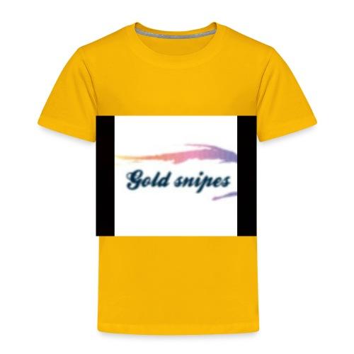 Kids Gold snipes Tshirt - Toddler Premium T-Shirt