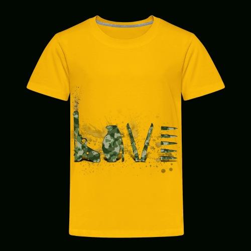 Love and War - Army - Toddler Premium T-Shirt