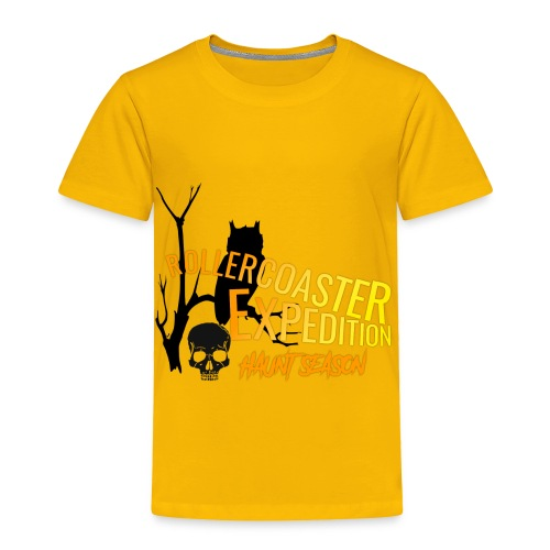 Rollercoaster Expedition Haunt Season - Toddler Premium T-Shirt