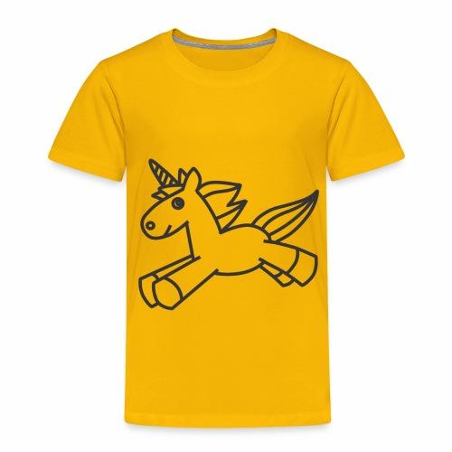 Cute Unicorn line art - Toddler Premium T-Shirt