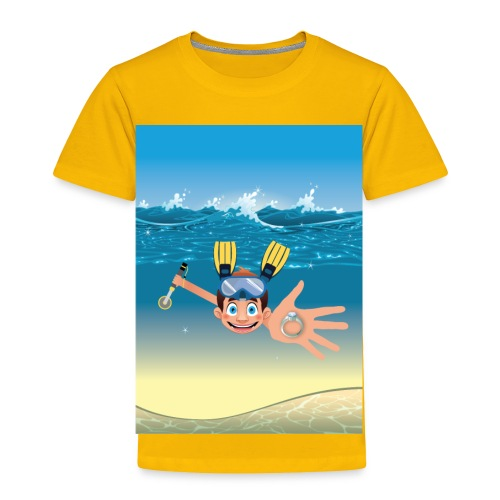 Metal Detecting in Water Ring Flippers NoText - Toddler Premium T-Shirt