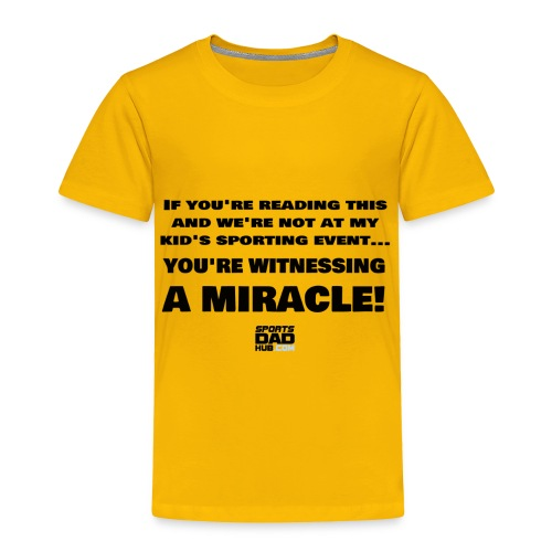 Witnessing A Miracle - Toddler Premium T-Shirt
