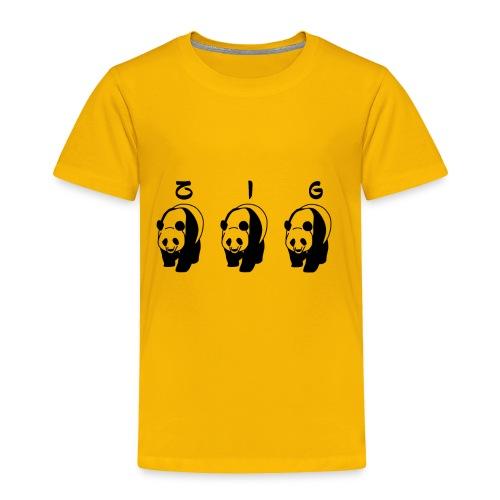 ZIGZIG PANDA - Toddler Premium T-Shirt