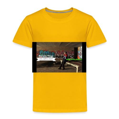 Harmin vlogs banner - Toddler Premium T-Shirt
