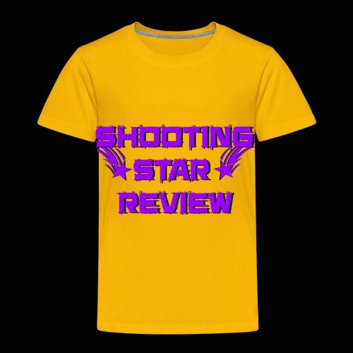 Shooting Star Review Purple Logo - Toddler Premium T-Shirt