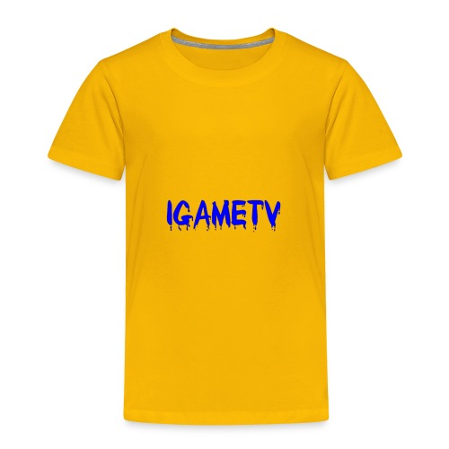 IGAME TV BLUE EDITION - Toddler Premium T-Shirt