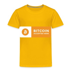 Bitcoin Accepted Here Logo Symbol Cryptocurrency - Toddler Premium T-Shirt