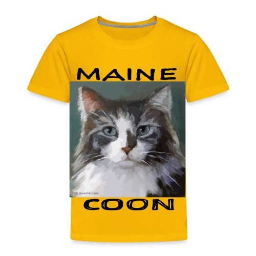 Maine Coon Cat - Toddler Premium T-Shirt