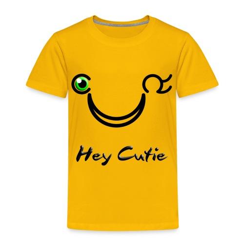 Hey Cutie Green Eye Wink - Toddler Premium T-Shirt