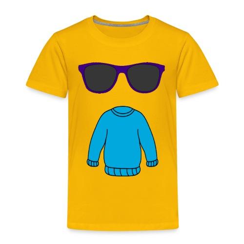 sweater glasses - Toddler Premium T-Shirt