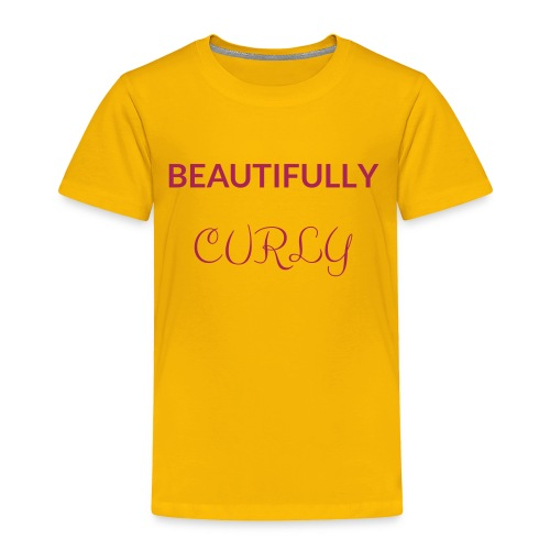Beautifully Curly - Toddler Premium T-Shirt