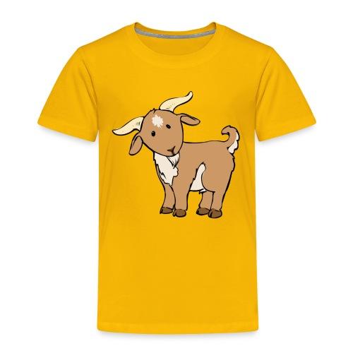 Cute Brown Goat - Toddler Premium T-Shirt