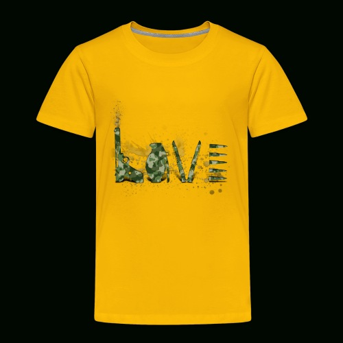 Love and War - Army - Toddler Premium T-Shirt