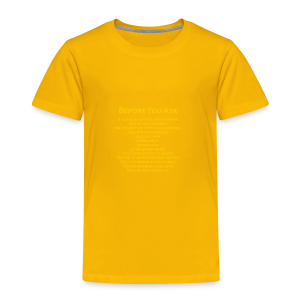 tshirt_pilotVersion_nologo_gold - Toddler Premium T-Shirt