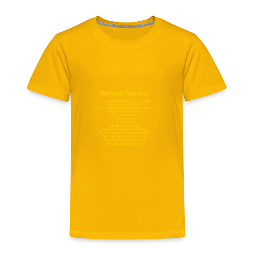 tshirt_pilotVersion_nologo_gold - Toddler Premium T-Shirt