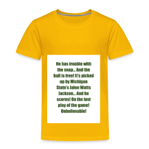 He_has_trouble_with_the_snap-1 - Toddler Premium T-Shirt