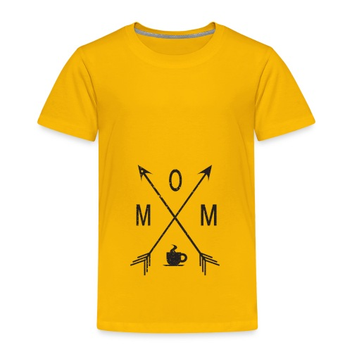 Mom Loves Coffee (black ink) - Toddler Premium T-Shirt