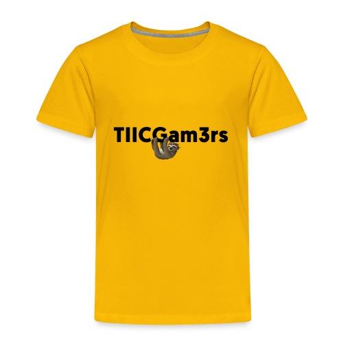 Sloth Hanging on Text - Toddler Premium T-Shirt
