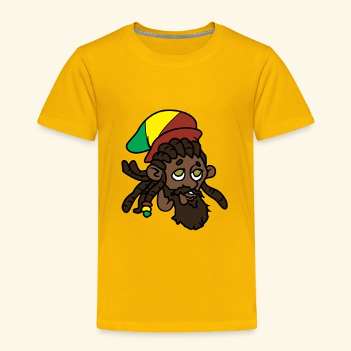 Rasta Ricky Head Logo - Toddler Premium T-Shirt