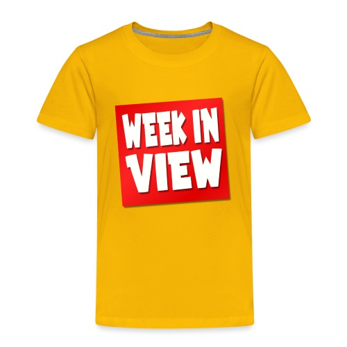 WEEK IN VIEW LOGO - Toddler Premium T-Shirt