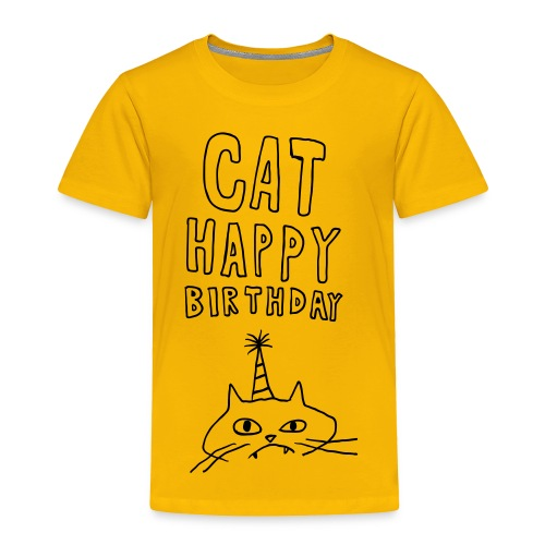 Cat Happy Birthday Collection - Toddler Premium T-Shirt
