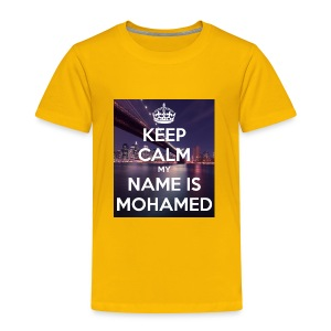 keep calm my name is mohamed 4 - Toddler Premium T-Shirt