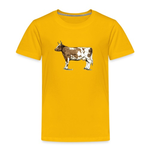 Red Ayrshire Dairy Cow - Toddler Premium T-Shirt