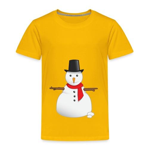 christmas-snowman-clipart-this-cute-snowman-clip-a - Toddler Premium T-Shirt