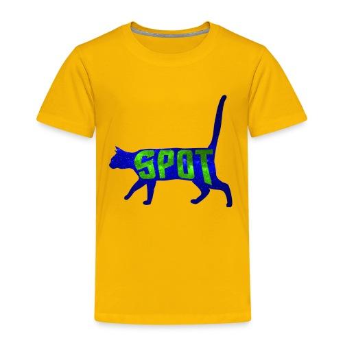 Data's Cat Spot (Blue and Green) - Toddler Premium T-Shirt