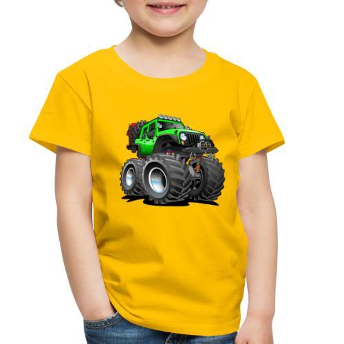 Off road 4x4 gecko green jeeper cartoon - Toddler Premium T-Shirt