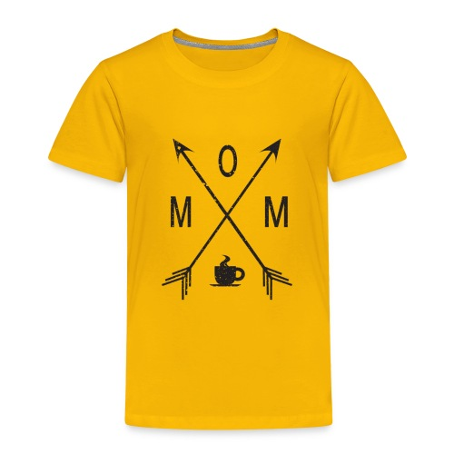 Mom Loves Coffee (black ink) - Toddler Premium T-Shirt