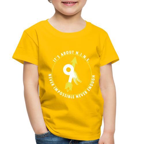 NINE Logo with Wings - Toddler Premium T-Shirt