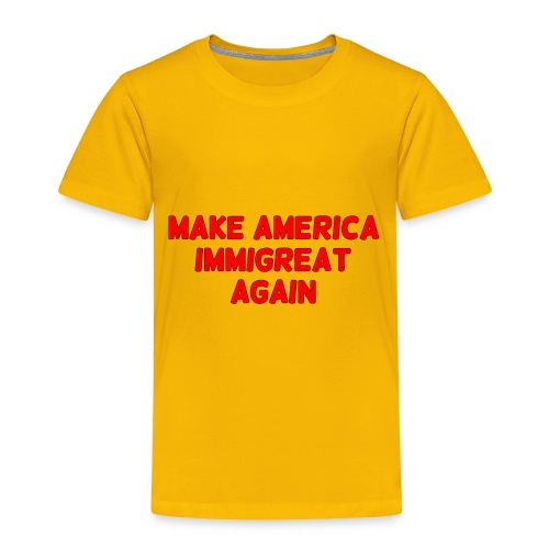 ImmiGREAT - Red - Toddler Premium T-Shirt
