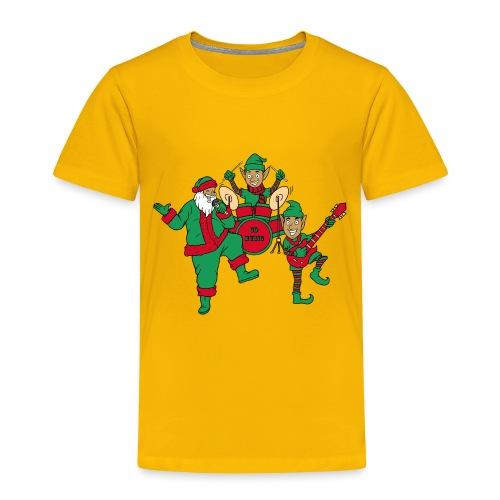 santa elves band w/ CD Music drums - Toddler Premium T-Shirt
