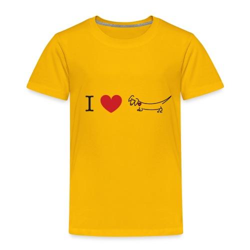 I love Dachshund - Toddler Premium T-Shirt