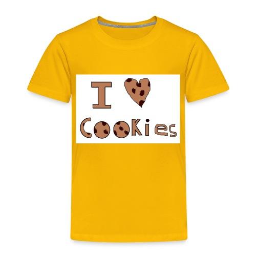 I Love Cookies - Toddler Premium T-Shirt