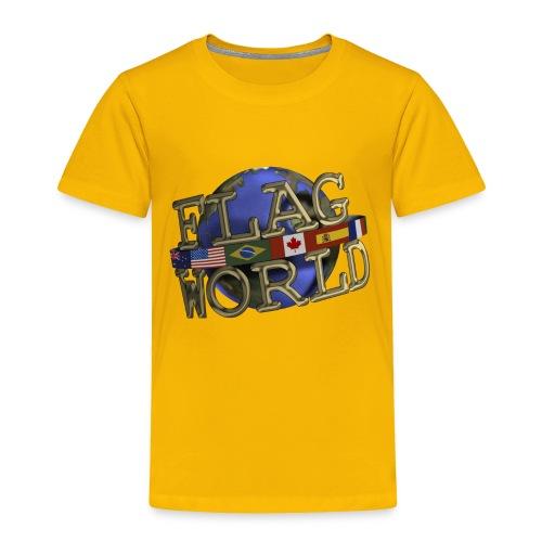 Flagworld Pixel Logo 3000pxwide - Toddler Premium T-Shirt