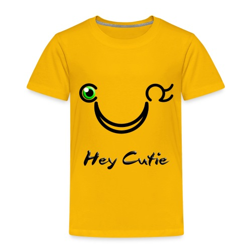 Hey Cutie Green Eye Wink - Toddler Premium T-Shirt