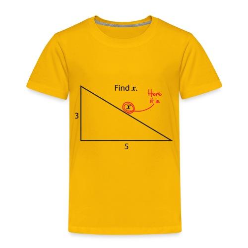 Find X - Toddler Premium T-Shirt