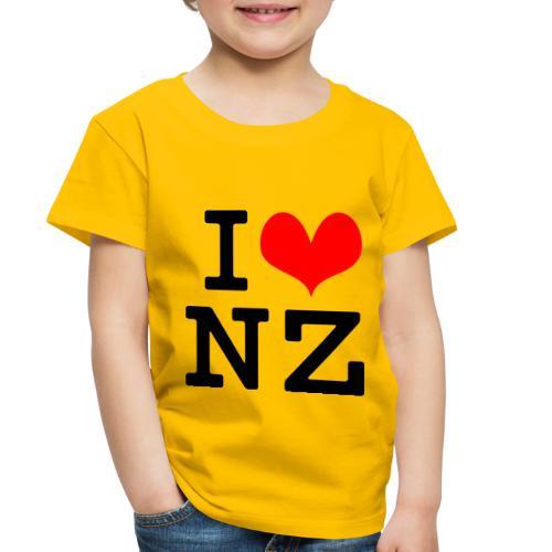 I Love NZ - Toddler Premium T-Shirt