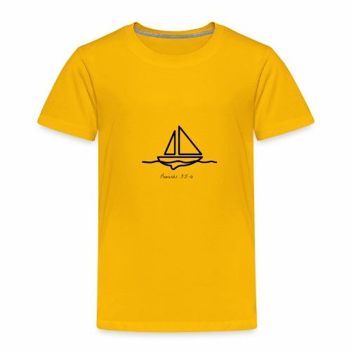 Proverbs 3:5-6 logo black - Toddler Premium T-Shirt