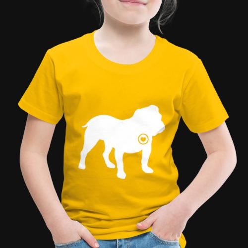 Bulldog love - Toddler Premium T-Shirt