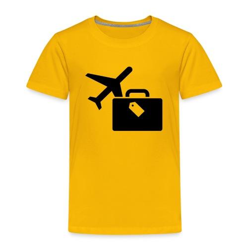 Airplane Luggage logo Icons Symbols Gift Shirt - Toddler Premium T-Shirt
