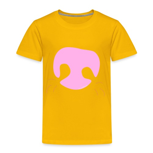 Pink Whimsical Dog Nose - Toddler Premium T-Shirt