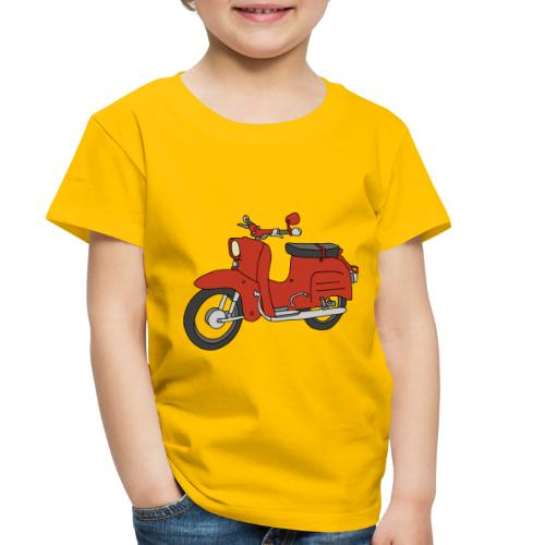 Schwalbe, ibiza-red scooter from GDR - Toddler Premium T-Shirt