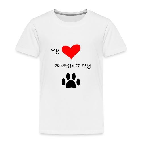 Dog Lovers shirt - My Heart Belongs to my Dog - Toddler Premium T-Shirt