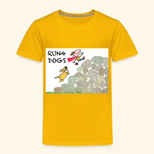 Dog chasing kid - Toddler Premium T-Shirt