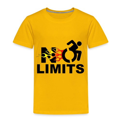 No limits for me with my wheelchair - Toddler Premium T-Shirt